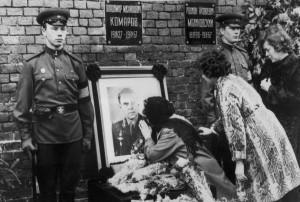 Komarov palaidotas