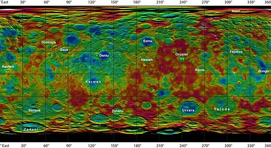 Algimantas Avižienis, Huygens, New Horizons, Philae, Pioneer 10, Pioneer 11, Cassini, Rosseta, Voyager 1, Voyager 2, Ceres map