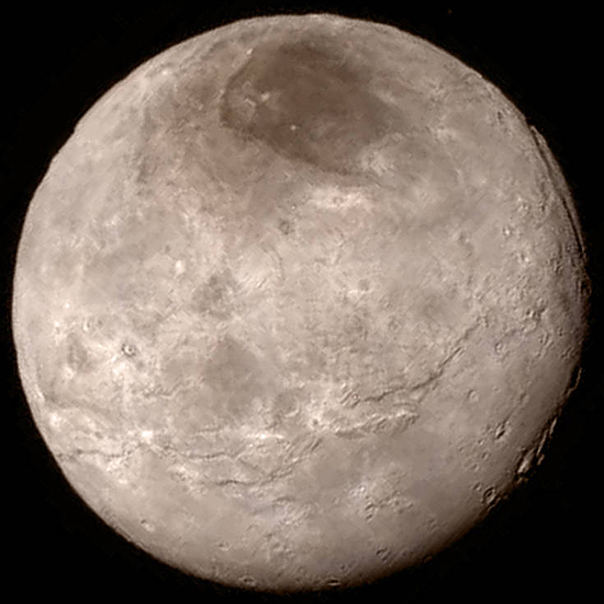 Algimantas Avižienis, Huygens, New Horizons, Philae, Pioneer 10, Pioneer 11, Cassini, Rosseta, Voyager 1, Voyager 2, Charon image 2015 07 13