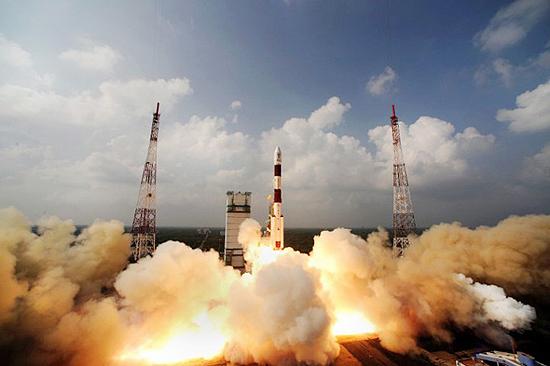 PSLV India rocket start