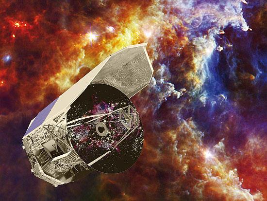 Teleskopas, Compton, Chandra, Fermi, GAIA, Herschel-space-observatory-art