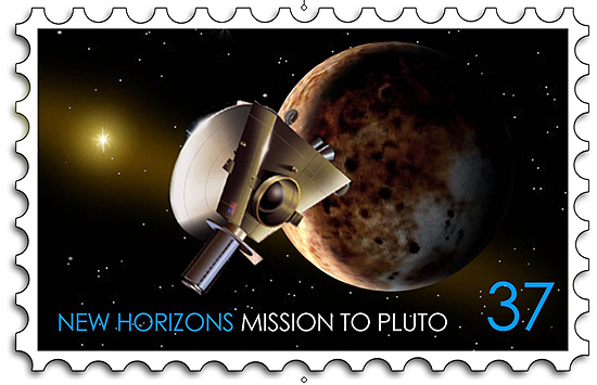 JUNO, Jupiteris, Saturnas new horizons stamp