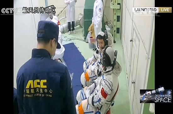 shenzhou-11 launch pad
