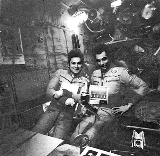 Kosmonautai Vladimir Kovolionok ir Aleksandr Ivančenkov