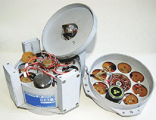 """Atidengtas prietaisas """"Neris-5"""", kuriame vykdytas eksperimentas DŽP """"Bion-10"""""""