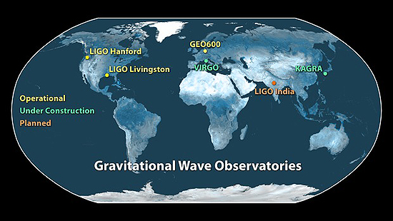 Gravitacija, LIGO, LISA Gravitational-Wave Observatories Across the Globe