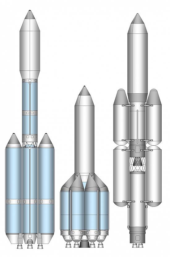 Angara, Energija, Sojuz, Proton Angaros kurimas1