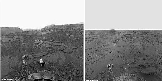 Apollo, Falcon, Mariner, Opportunity, Viking, Spirit Venus image from Venera 13 lander