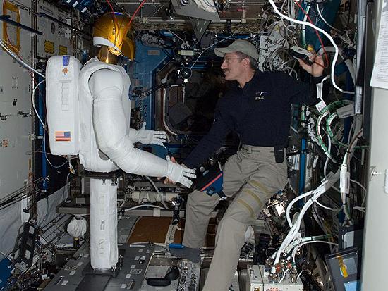 Robonaut 2 and Dan Burbank