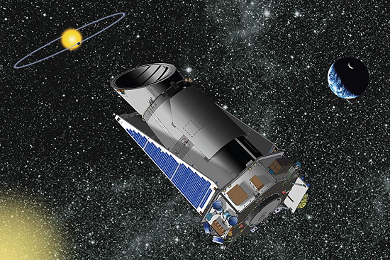 Hablo, Keplerio, Čandra, Niutono, Spicerio, Heršelio, Planko, teleskopai KeplerST