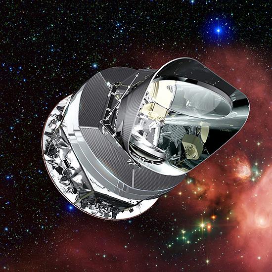 Hablo, Keplerio, Čandra, Niutono, Spicerio, Heršelio, Planko, teleskopai PlanckST