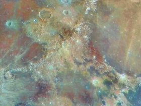 Moon in color