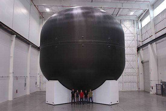 BFR carbon composite tank SpaceX