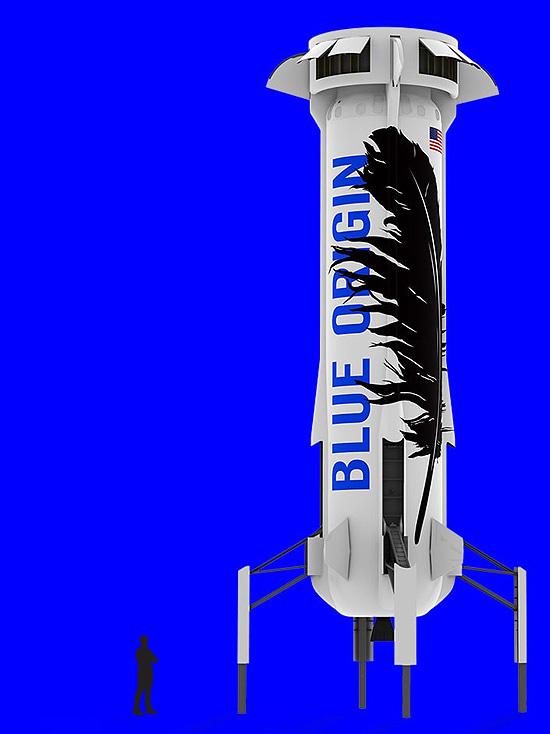 Blue Origin New Shepard rocket size