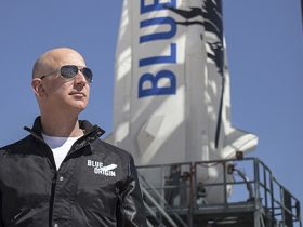 Jeff Bezos Blue Origin Amazon Elon Musk