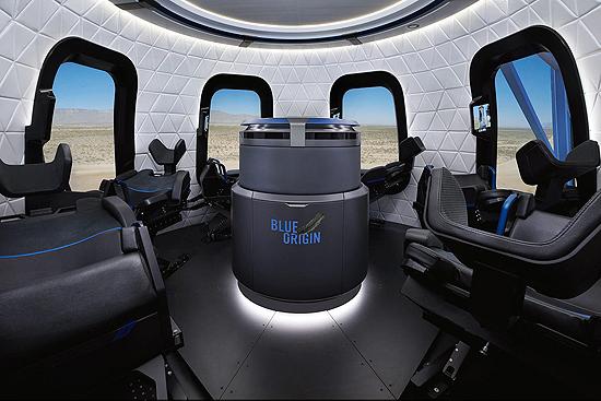 Blue Origin New Shepard interior cabin