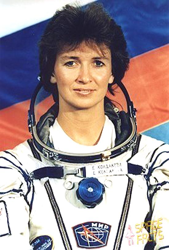 Jelena Kondakova moterys kosmose