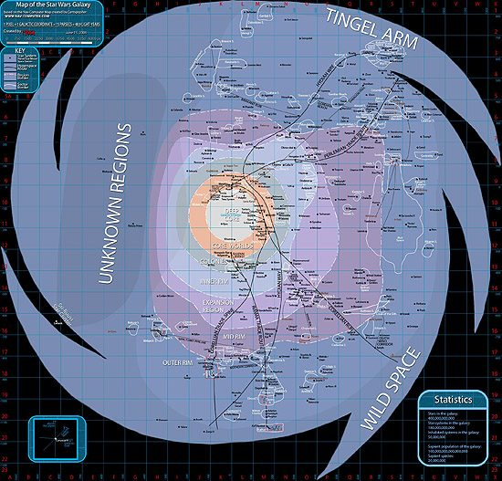 Fantastika, realybė, specialieji efektai, droidai, klonai Maps Galaxy