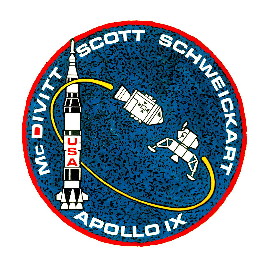 Apollo 9 patch McDivit Scott Schweickart