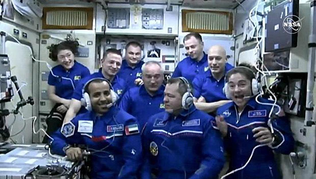 Skripochka, Meir, Mansouri, ISS crew