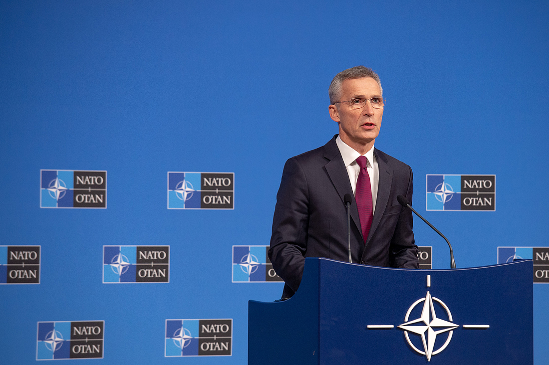 NATO, Stoltenberg, kosmosas, Meetings of the Ministers of Foreign Affairs at NATO Headquarters in Brussels- Press Conference by NATO Secretary General