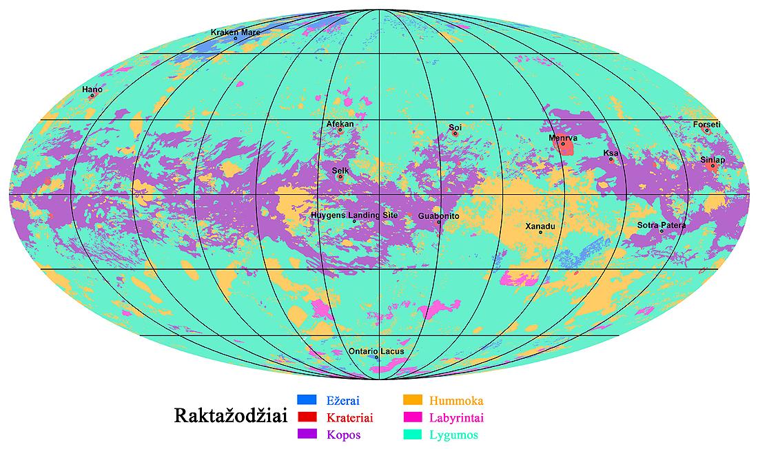 Cassini, Huygens, Titanas, titanlapis