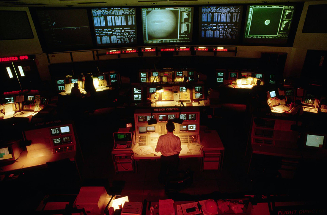 Voyager Control Center at Pasadena