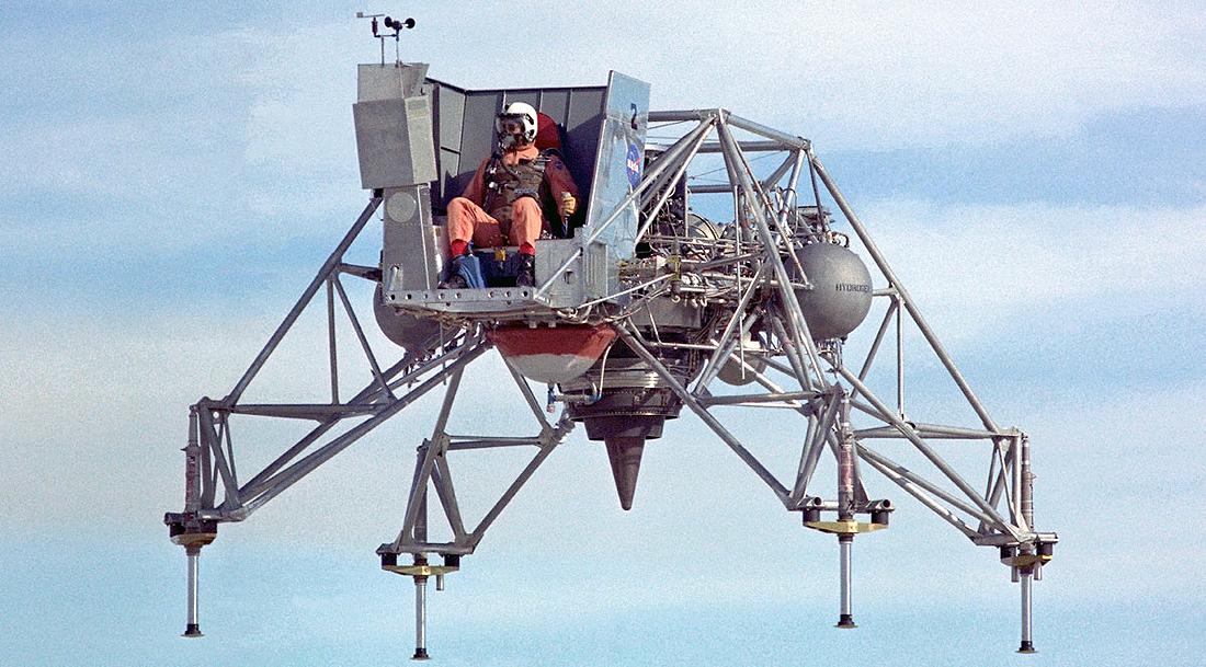 Lunar Landing Research Vehicle, Mėnulėjimas, leidimasis, Mėnulis, NASA