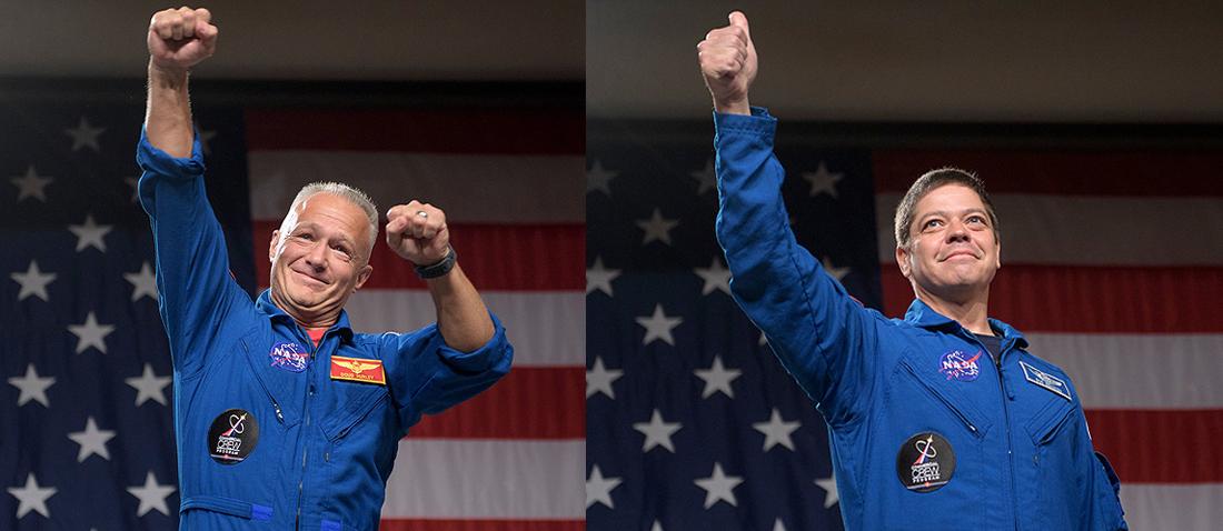 Demo-2, NASA, D.Hurley R.Behnken