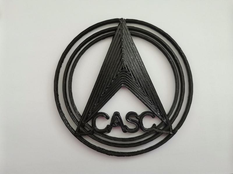 CASC logo Kinija, erdvėlaivis