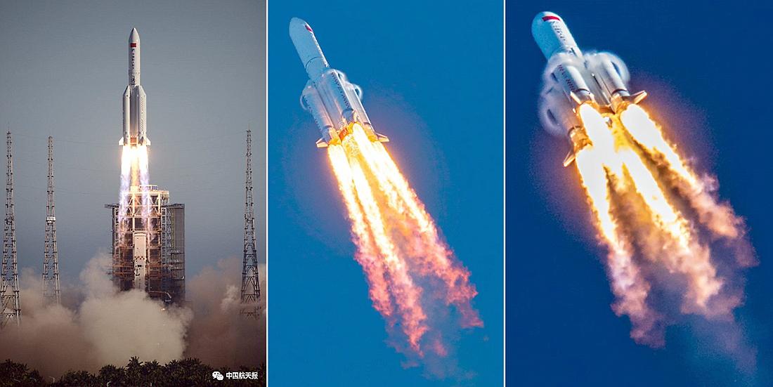 CZ-5B, testai, Kinija, erdvėlaivis