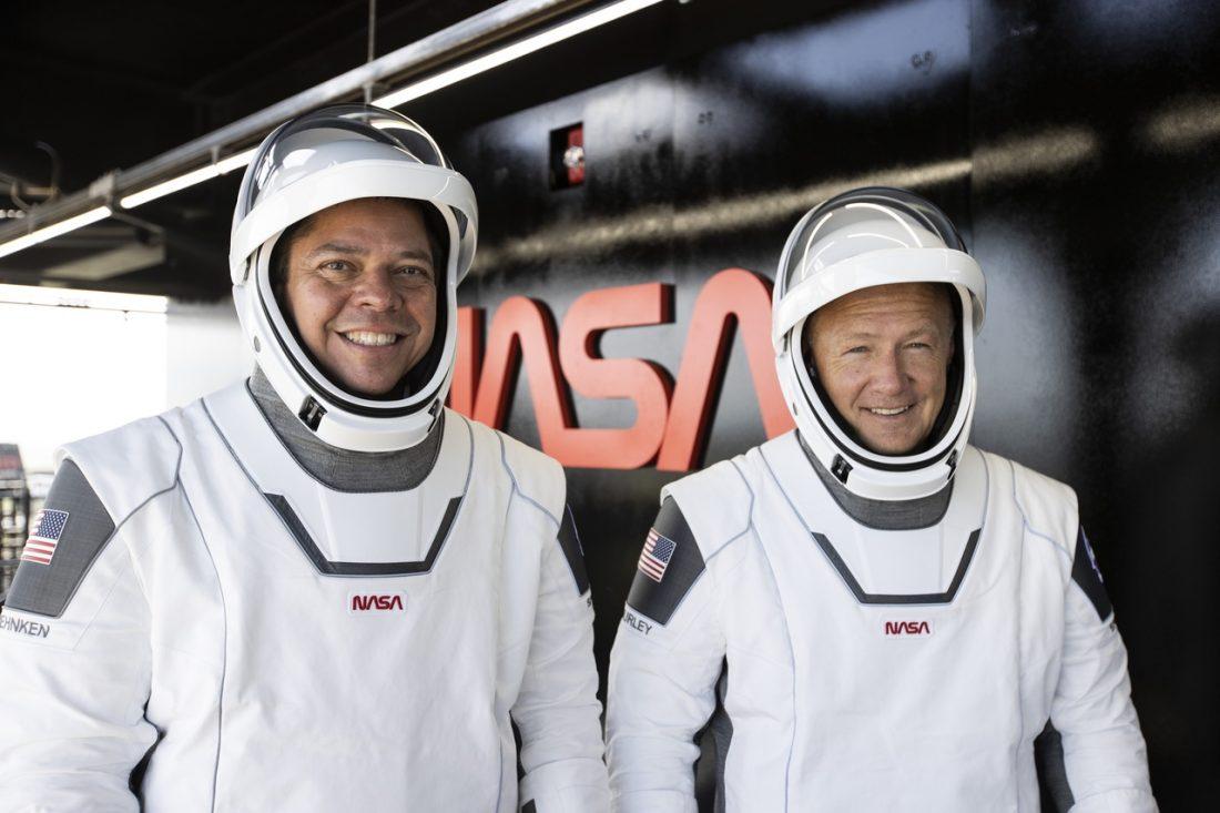 I_BobBehnken_DouglasHurley SpaceX SpaceX, NASA, Demo-2