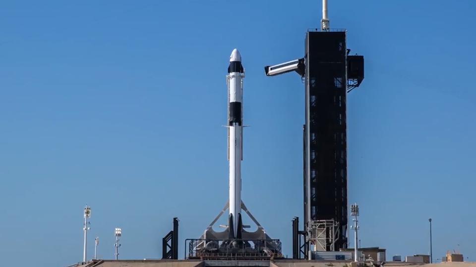 SpaceX rocket Falcon 9 and Crew Dragon mission Demo-2