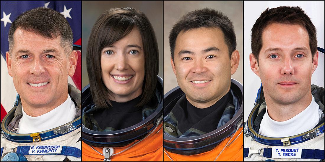 Crew-2 Shane Kimbrough_Megan McArthur_Akihiko Hoshide_Thomas Pesquet