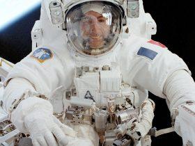 EVA STS-111_Astronaut_Perrin_Performs_Extra_Vehicular_Activity_EVA