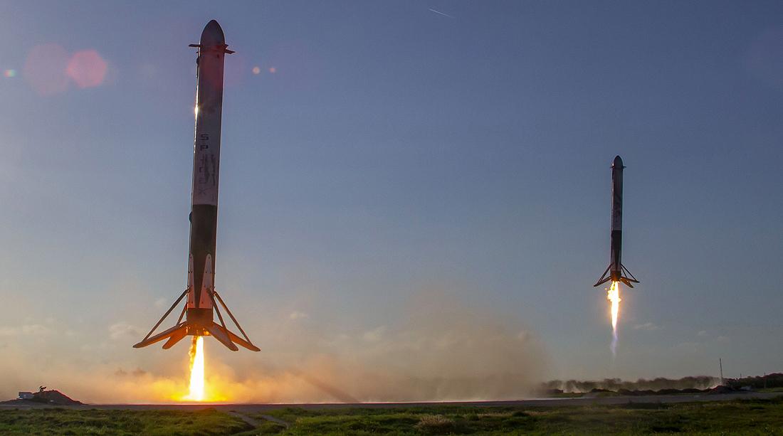 SpaceX astronautika Falcon 9 landing