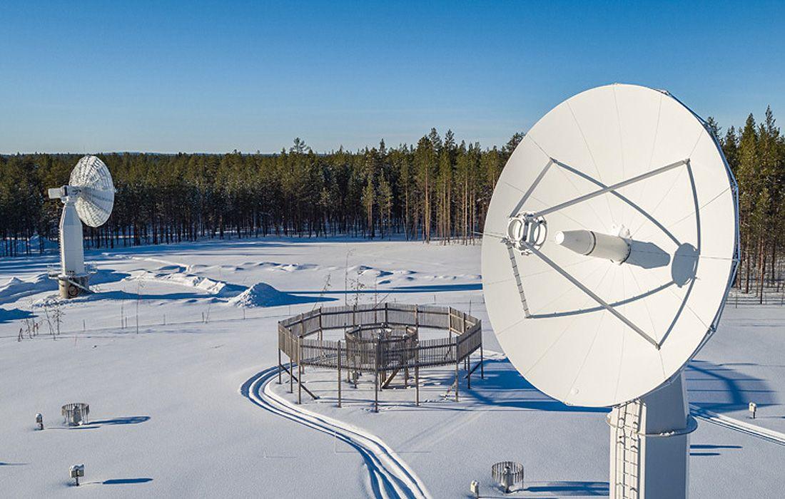 Suomija satelliittilautasettalvella