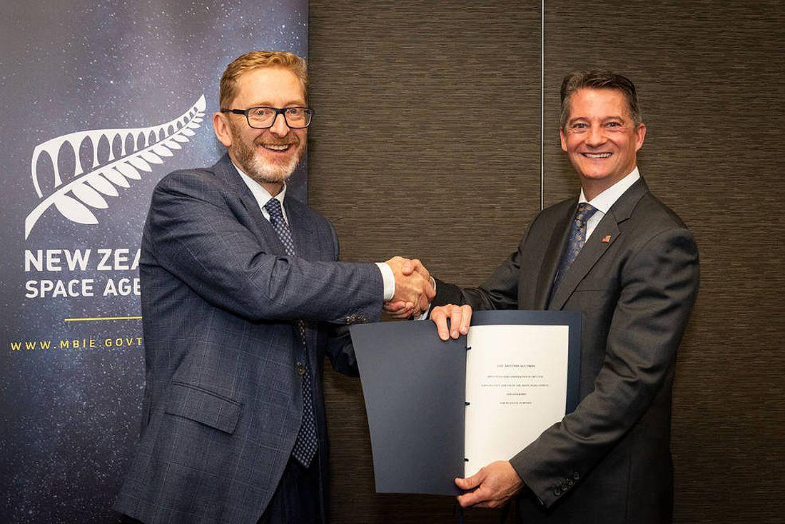 Naujoji Zelandija New Zeeland Artemis Accords Signing