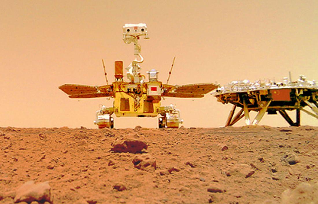 Zhurong teisė Marse